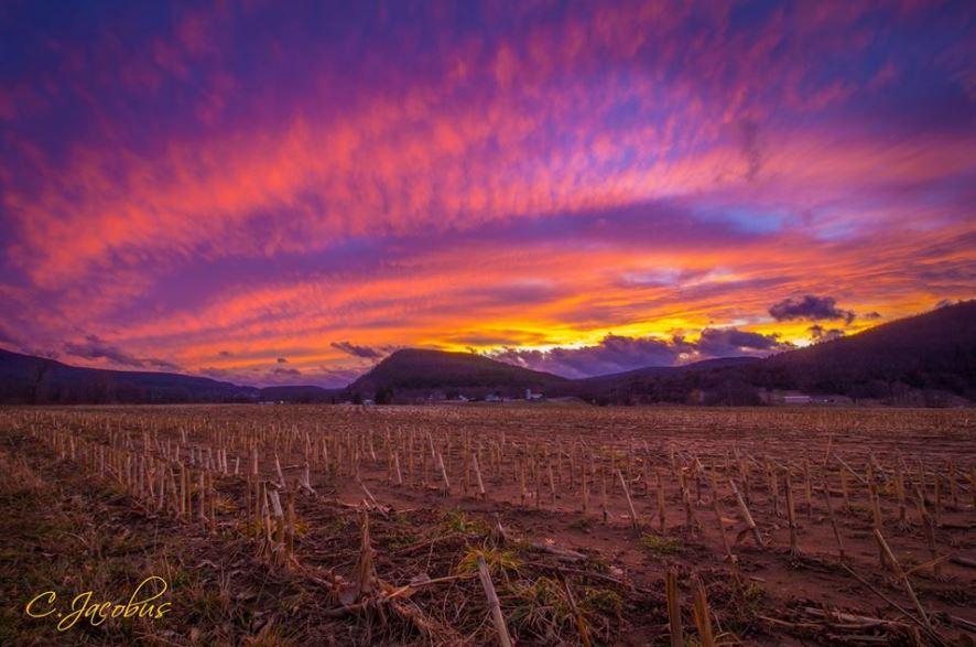 sunset on schoharie farm