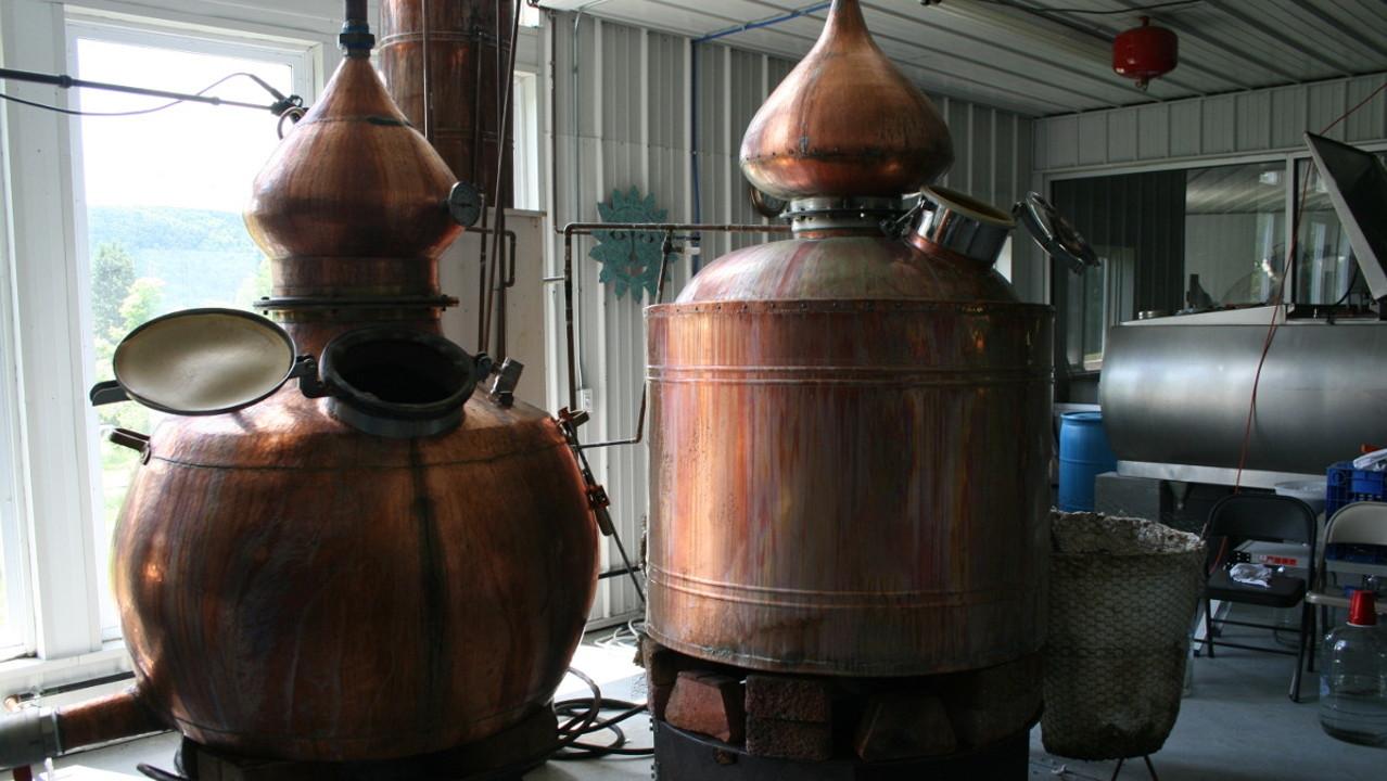 copper stills on the beverage trail